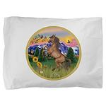 ORN-MtCountry-Horse-TAN-rear Pillow Sham