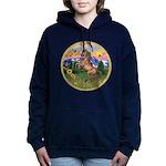 ORN-MtCountry-Horse-TAN-rear Women's Hooded Sw