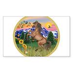 ORN-MtCountry-Horse-TAN-rear Sticker (Rectangl