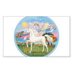 Angel Star - White Arabian Horse (round) Stick
