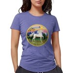 Mountain Country - White Arabian Horse Womens
