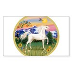 Mountain Country - White Arabian Horse Sticker