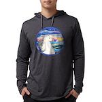 Rocks-SeaWhite Arabian Horse Mens Hooded Shirt