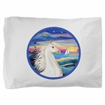 Rocks-SeaWhite Arabian Horse Pillow Sham