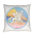 Clouds-Horse Angel (Ar-W) Everyday Pillow