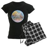 Clouds-Horse Angel (Ar-W) Women's Dark Pajamas