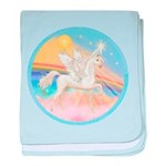 Clouds-Horse Angel (Ar-W) baby blanket