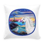 Rocks-Sea-White Arabian Horse - Seagull (ro Ev