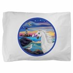Rocks-Sea-White Arabian Horse - Seagull (ro Pi