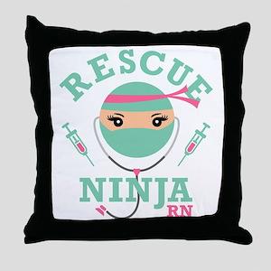 Rescue Ninja RN Throw Pillow