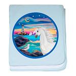 Rocks-Sea-White Arabian Horse - Seagull (ro ba