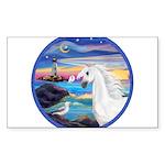 Rocks-Sea-White Arabian Horse - Seagull (ro St