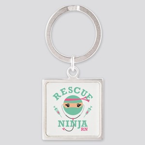 Rescue Ninja RN Square Keychain
