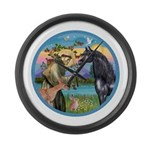 ORN-StFrancis-Black Arabian Horse Large Wall C