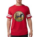 Spring (Monet) - Black Arabian Horse Mens Foot