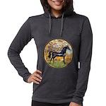 Spring (Monet) - Black Arabian Horse Womens Ho