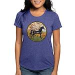 Spring (Monet) - Black Arabian Horse Womens Tr