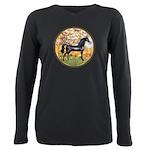 Spring (Monet) - Black Arabian Horse Plus Size