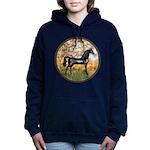 Spring (Monet) - Black Arabian Horse Women's H