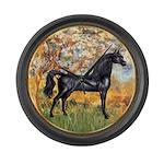 Spring (Monet) - Black Arabian Horse Large Wal