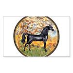 Spring (Monet) - Black Arabian Horse Sticker (