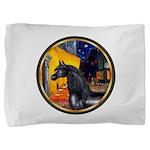 Terrace Cafe - Black Arabian Horse Pillow Sham