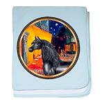Terrace Cafe - Black Arabian Horse baby blanke