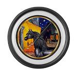 Terrace Cafe - Black Arabian Horse Large Wall