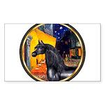 Terrace Cafe - Black Arabian Horse Sticker (Re