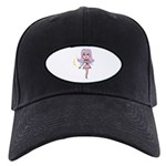 Pink Fairy Black Cap with Patch
