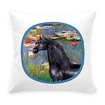 ORN-Lilies2-Black ArabianHorse Everyday Pillow