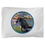 ORN-Lilies2-Black ArabianHorse Pillow Sham
