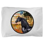 ORN-Garden-VG-Black Arabian Horse Pillow Sham