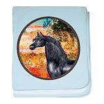 ORN-Garden-VG-Black Arabian Horse baby blanket