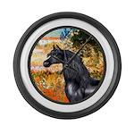 ORN-Garden-VG-Black Arabian Horse Large Wall C