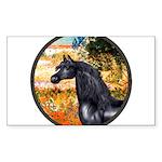ORN-Garden-VG-Black Arabian Horse Sticker (Rec