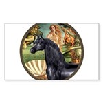 Birth of Venus - Black Arabian Horse Sticker (