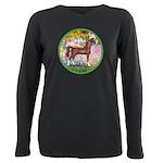 Garden (Monet) - Brown Arabian Horse Plus Size