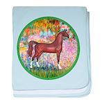 Garden (Monet) - Brown Arabian Horse baby blan