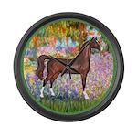 Garden (Monet) - Brown Arabian Horse Large Wal