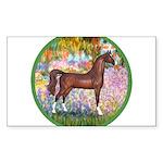 Garden (Monet) - Brown Arabian Horse Sticker (