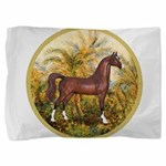 Palms (Monet) - Brown Arabian Horse Pillow Sha