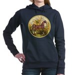 Palms (Monet) - Brown Arabian Horse Women's Ho