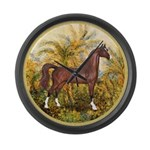 Palms (Monet) - Brown Arabian Horse Large Wall
