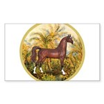 Palms (Monet) - Brown Arabian Horse Sticker (R