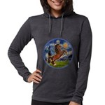 Starry Night - Brown Horse Rearing Womens Hood