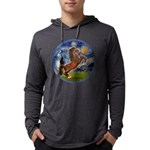 Starry Night - Brown Horse Rearing Mens Hooded