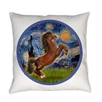 Starry Night - Brown Horse Rearing Everyday Pi