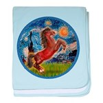 Starry Night - Brown Horse Rearing baby blanke