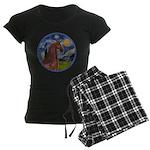 ORN-Starry-ArabianHorse Women's Dark Pajamas